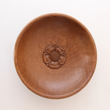 "Malcolm 'Foxman'Pipes  9 3/4"" Adzed Oak Fruitbowl"