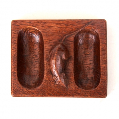 Robert 'Mouseman' Thompson Early Oak Double Pin Tray