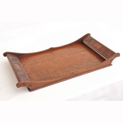 Arthur Simpson of Kendal Arts and Crafts Oak Serving Tray