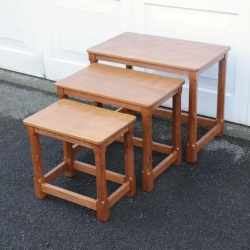 Robert 'Mouseman' Thompson Oak Nest of Tables