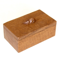 Robert 'Mouseman' Thompson Oak Trinket Box