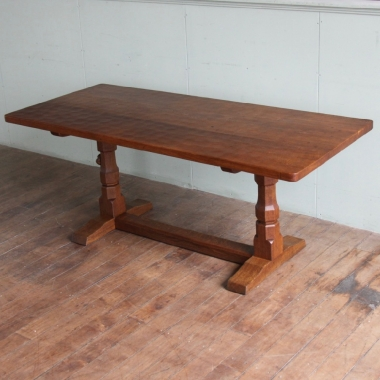 Robert 'Mouseman' Thompson 6' Dowelled Top Dining Table