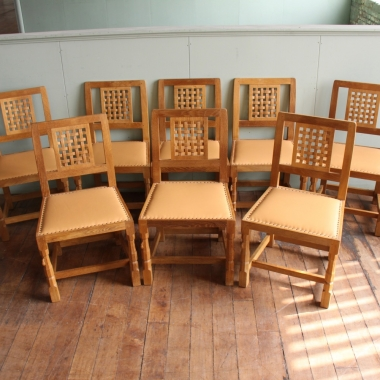 Robert 'Mouseman' Thompson Set of 8 Dining Chairs