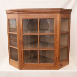 Colin Almack 'Beaverman' Oak Corner Hung Glazed Cupboard