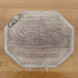 "'Mouseman' Robert Thompson 12"" Oak Bread Board"
