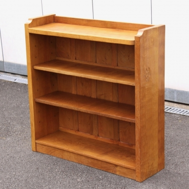 Lyndon Hammell 'Cat and Mouseman' Adzed Oak Bookcase