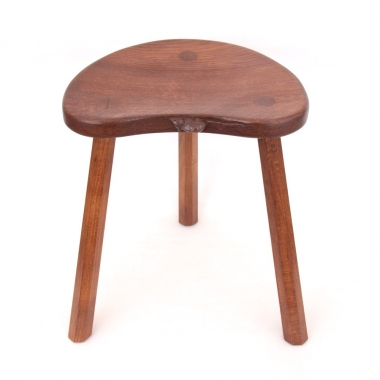 "Robert 'Mouseman' Thompson 18"" Oak Cow Stool"