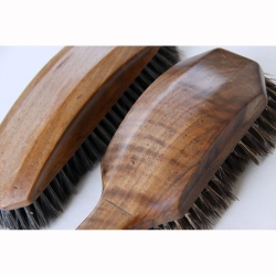 Stanley Webb Davies Walnut Clothes Brushes