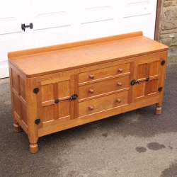 Robert 'Mouseman' Thompson, 5' Oak Sideboard