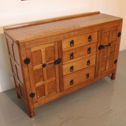 "Wilf Hutchinson 'Squirrelman' Oak 4'6"" Sideboard"