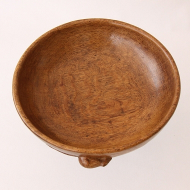 "Robert 'Mouseman' Thompson, Oak Early 9 1/2"" Fruitbowl"