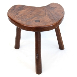 Robert 'Mouseman' Thompson 1930s Large Stool / Occasional Table