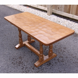 "Sid Pollard, Adzed Yorkshire Oak 3' 3"" Coffee Table"