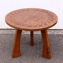 Thomas Whittaker 'Gnomeman' Oak Circular Coffee Table