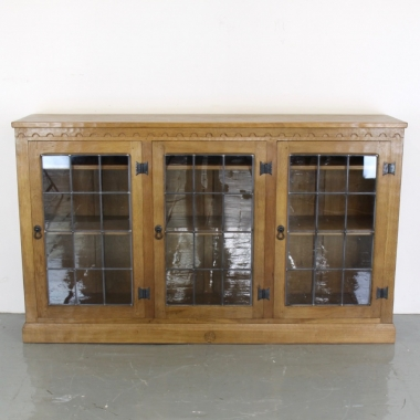 'Squirrelman'Wilf Hutchinson Glazed Oak Bookcase / Display Cabinet