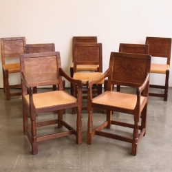 Robert 'Mouseman' Thompson Set of 8 1930s Dining Chairs