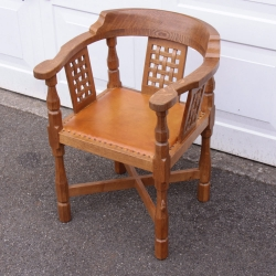 Robert Thompson 'Mouseman' Oak Monks Chair