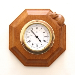 Robert 'Mouseman' Thompson Oak Quartz Wall Clock