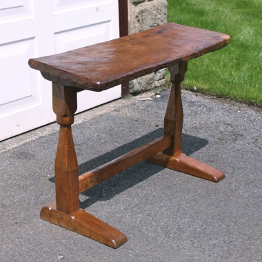 Thomas Whittaker 'Gnomeman' Burr Oak Desk or Side Table