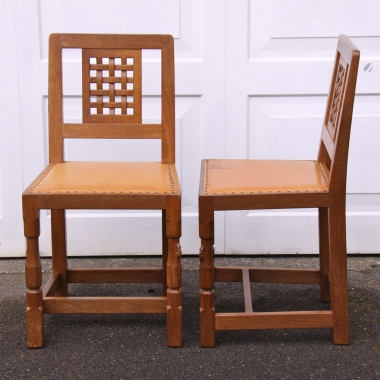 Robert Thompson 'Mouseman' Pair of Dining Chairs