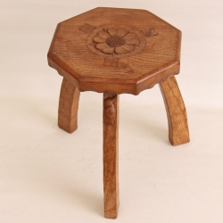 'Kingfisher' Yorkshire Oak Adzed Cow Stool