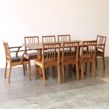 Acornman Alan Grainger Acorn Industries Oak Ding Table and 8 Chair Set