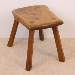 Thomas 'Gnomeman' Whittaker Burr Oak Stool or Side Table