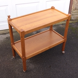 Wilf Hutchinson 'Squirrelman' Oak Serving Trolley