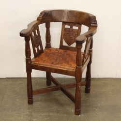 Robert 'Mouseman' Thompson Pair of Early Monks Chairs