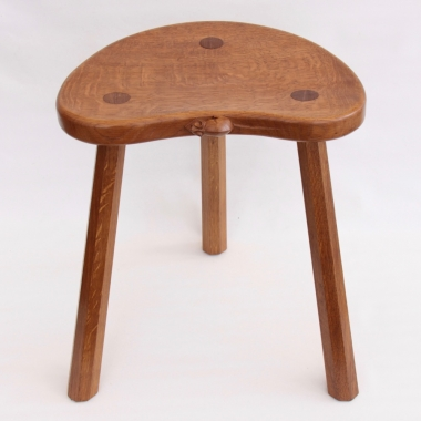"Robert 'Mouseman' Thompson Oak 18"" Cow Stool"