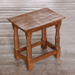 Wilf 'Squirrelman' Hutchinson  Dished Oak Stool