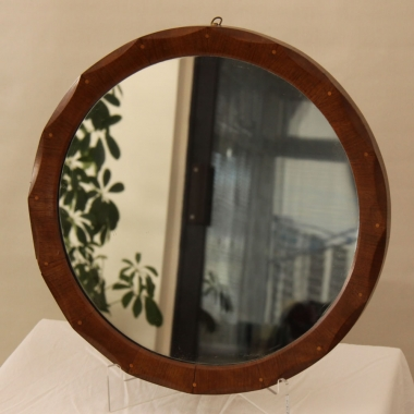 Cotswold School Oak Circular Mirror