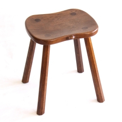 Robert 'Mouseman' Thompson 4 Leg Oak Cow Stool