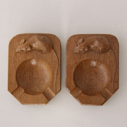 Robert 'Mouseman' Thompson, Oak Ashtrays