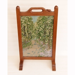 Robert Thompson 'Mouseman' Oak Tapestry Fire Screen
